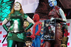 Cosplay Contest Winners: Mera (First Place), Dusting Spiderman (Third Place), Nebula (Second Place)