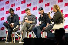 Don Cheadle, Jeremy Renner, & Chris Evans   Photo Credit: Kevin Castillo (@djkastle)
