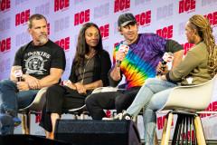 Josh Brolin, Zoe Saldana, & Lee Pace   Photo Credit: Kevin Castillo (@djkastle)