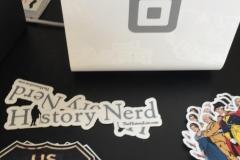 Adorable History Nerd Stickers
