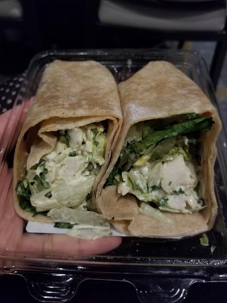 Terragon Chicken Salad Wrap