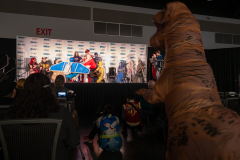 Even T-Rex made an appearance in the Main Theatre to check out the cosplay contest!