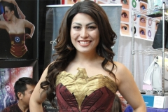 Cosplayer Ashley in the Wonder Woman Corset