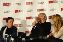 Michael J Fox, Christopher Lloyd, and Lea Thompson