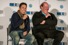 Oscar Nunez & Brian Baumgartner   Photo Credit: Kevin Castillo (@djkastle)