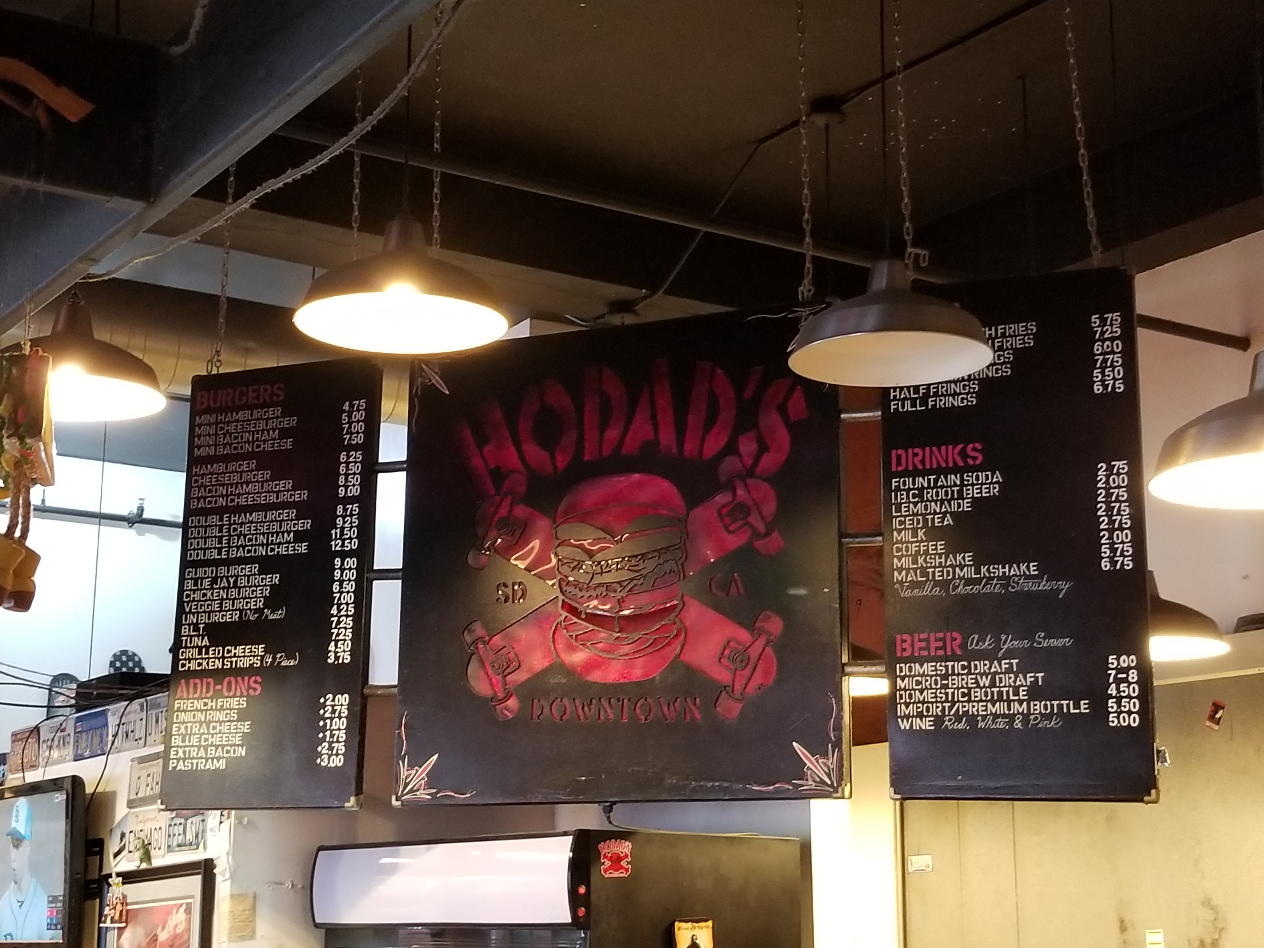 Made it to Hodad's Downtown SD Location!