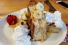 Stuffed French Toast and a whole lotta whipped cream!