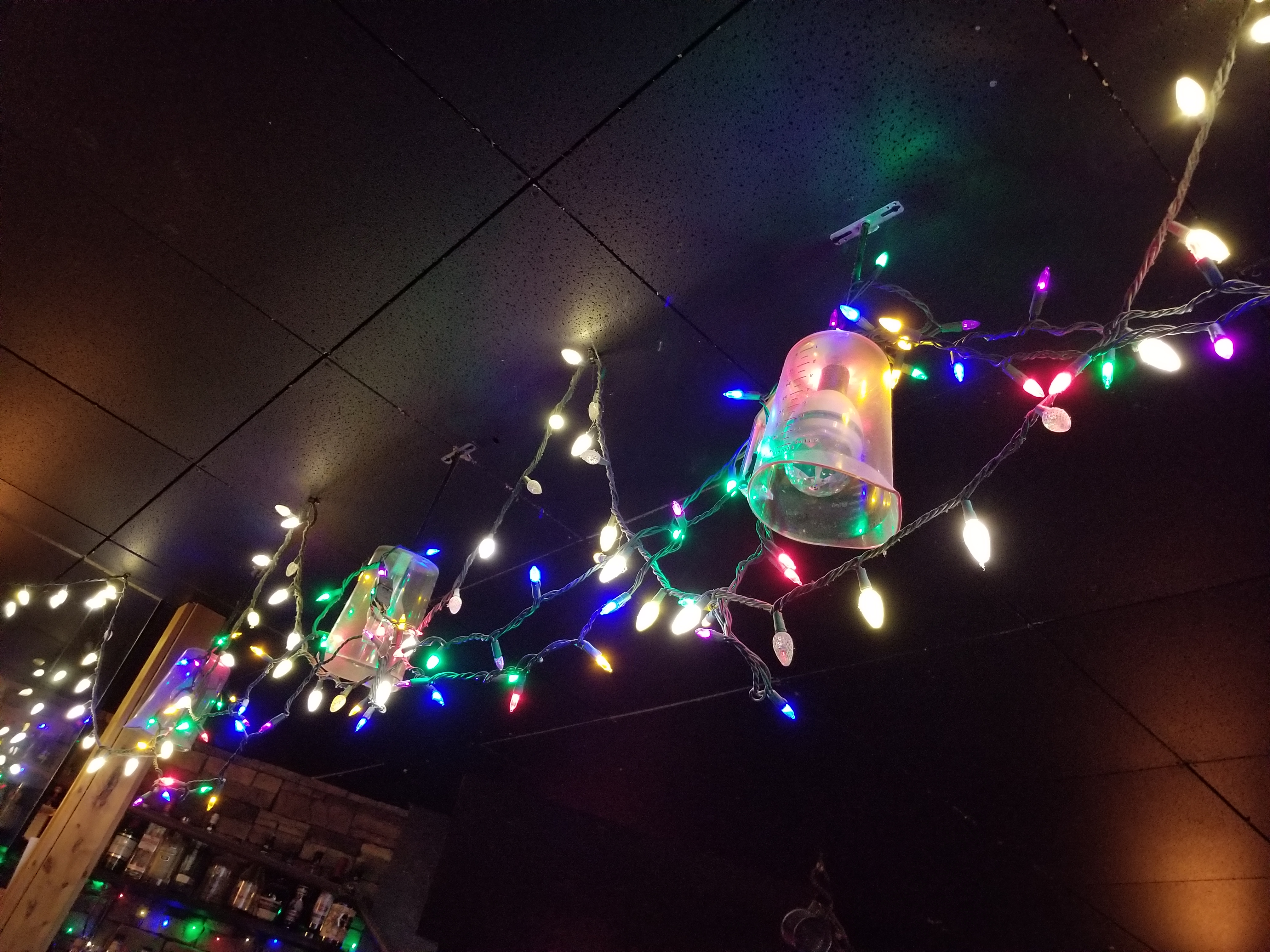 How very Stranger Things with the Christmas lights...