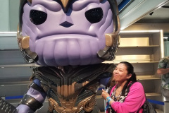 Jen found Thanos a little too late | Photo Credit: NC (@nerdycurious)