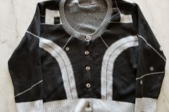 Elhoffer Design: Baby Bot Cardigan in Black and Grey