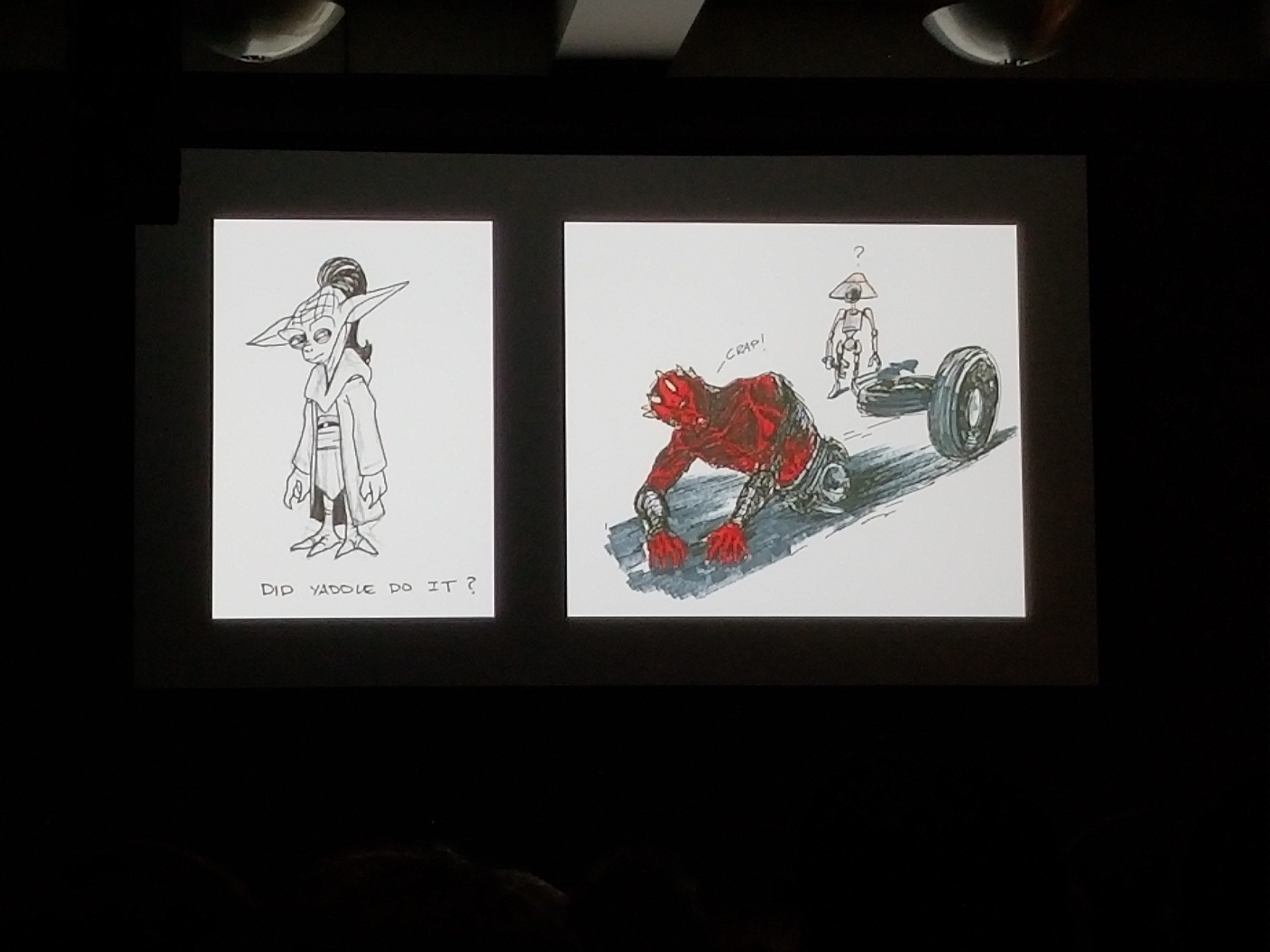 Showcasing a couple out of many sketches from Dave Filoni