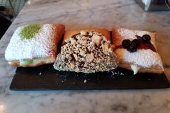Fancy Beignet Flight: Matcha Cheesecake, S'mores, Blueberry