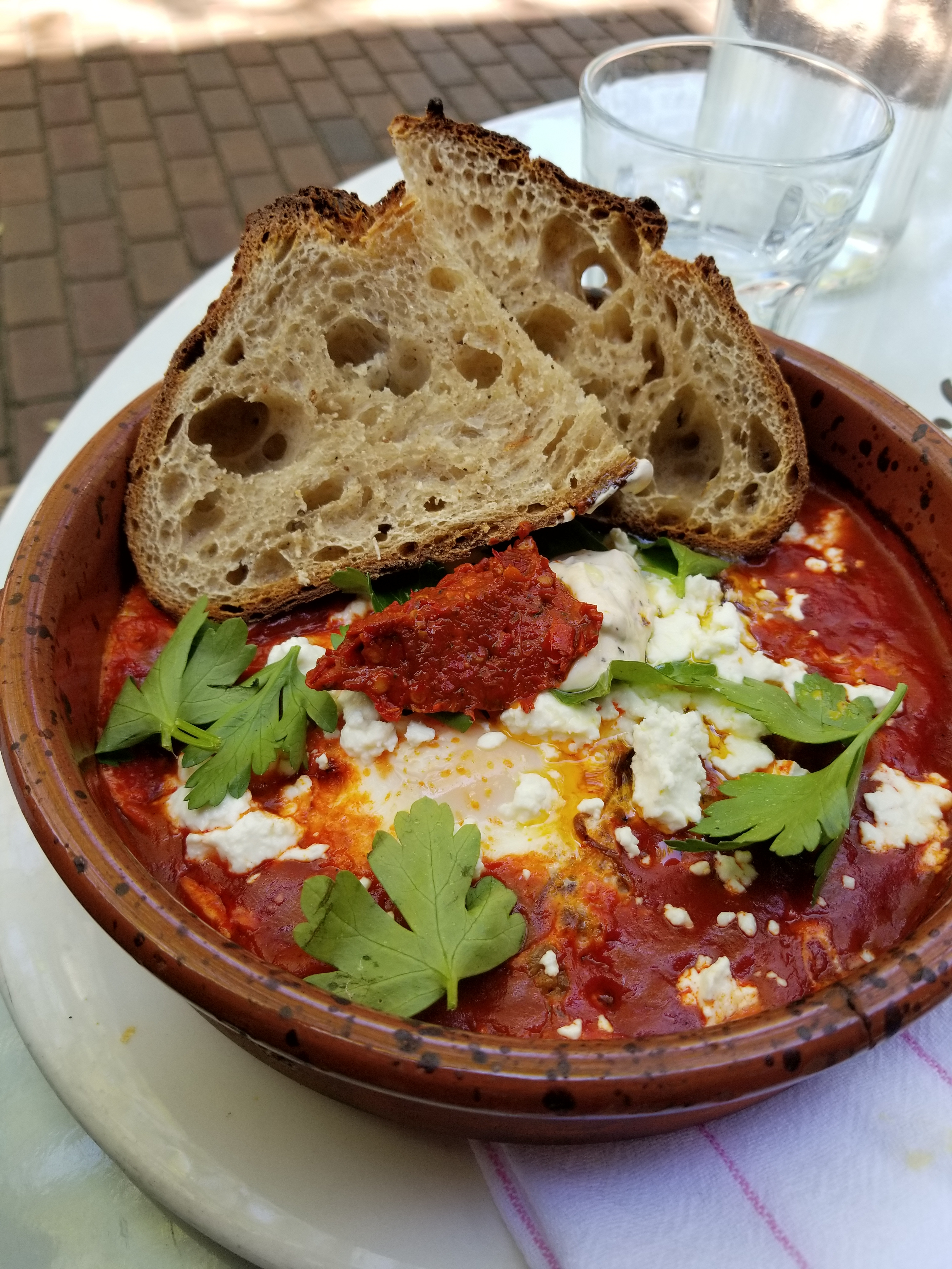 Special of the Day - Baked Eggs in a Tomato Sauce