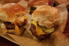 Fried Chicken and Beef Sliders
