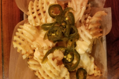 Waffle Fries with Cheese and Jalapenos