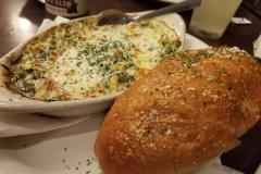 Spinach and Artichoke Dip with Crusty Bread