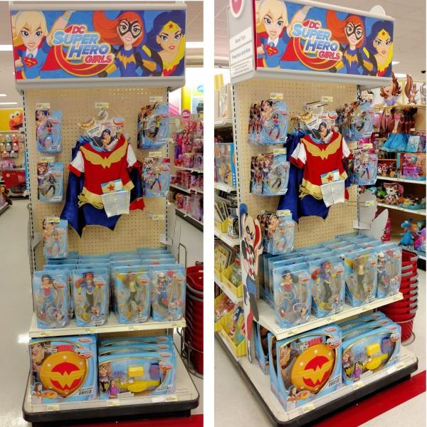 Target DC Superhero Girls Endcap