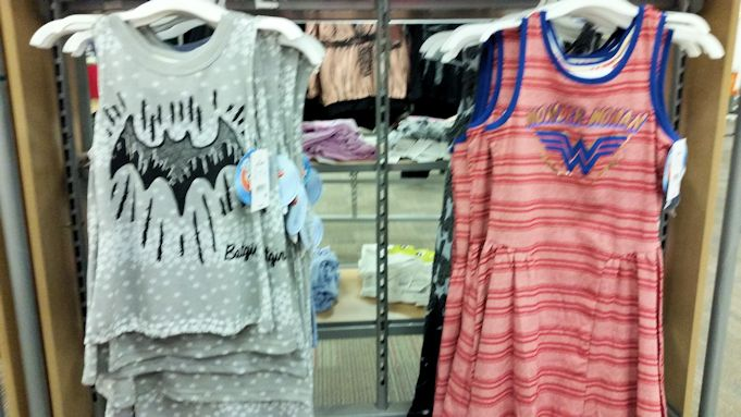 DC Superhero Girls Target Batgirl Tanktop and Wonder Woman Dress