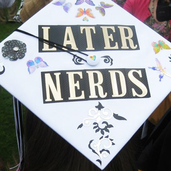 top nerdy ten grad caps nerds