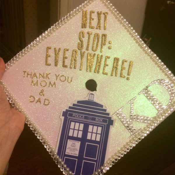 top nerdy ten grad caps doctor who