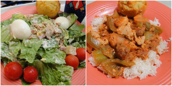 (New Orleans salad and Jambalaya / Photo Credit: Jenine)