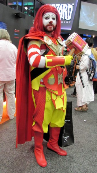Thor-Ronald McDonald (yes that's Mjorlnir made out of chicken mcnugget boxes...)