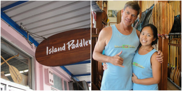 (Eric & Haru at Island Paddler /  Photo Credit: Jenine)