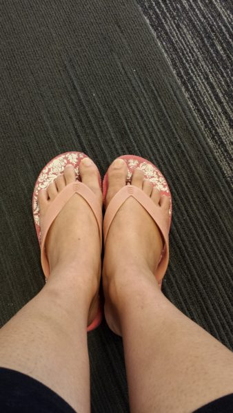 (My flight home – literally leaving my shoes behind / Photo Credit: Jenine)