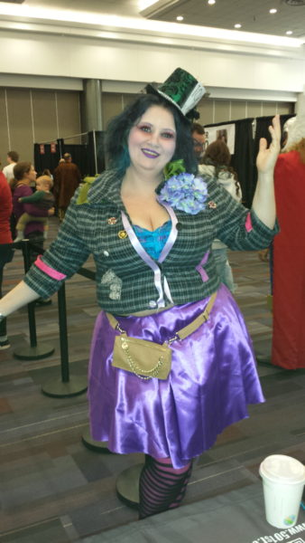 (A Mad Hatter costume that only took 1 hour to put together by @beautyimperfect! / Photo Credit: Jenine)