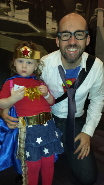 (Adorable father and daughter cosplay duo. / Photo Credit: Jenine)