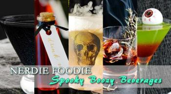nerdie foodie spooky boozy beverages
