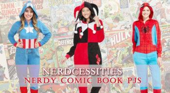 nerdcessities nerdy comic book pajamas