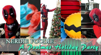 nerdie foodie a poolmas holiday party