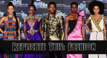 replicate this fashion black panther red carpet premiere