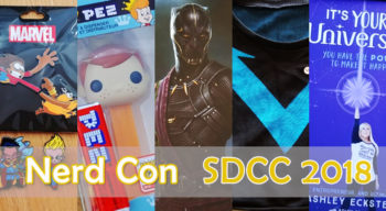nerd con sdcc 2018 show floor and merch