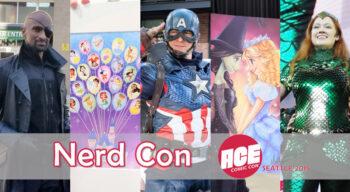 nerd con ace con seattle 2019 show floor cosplay merch artist alley