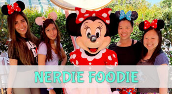 nerdie foodie character breakfast with minnie and firiends